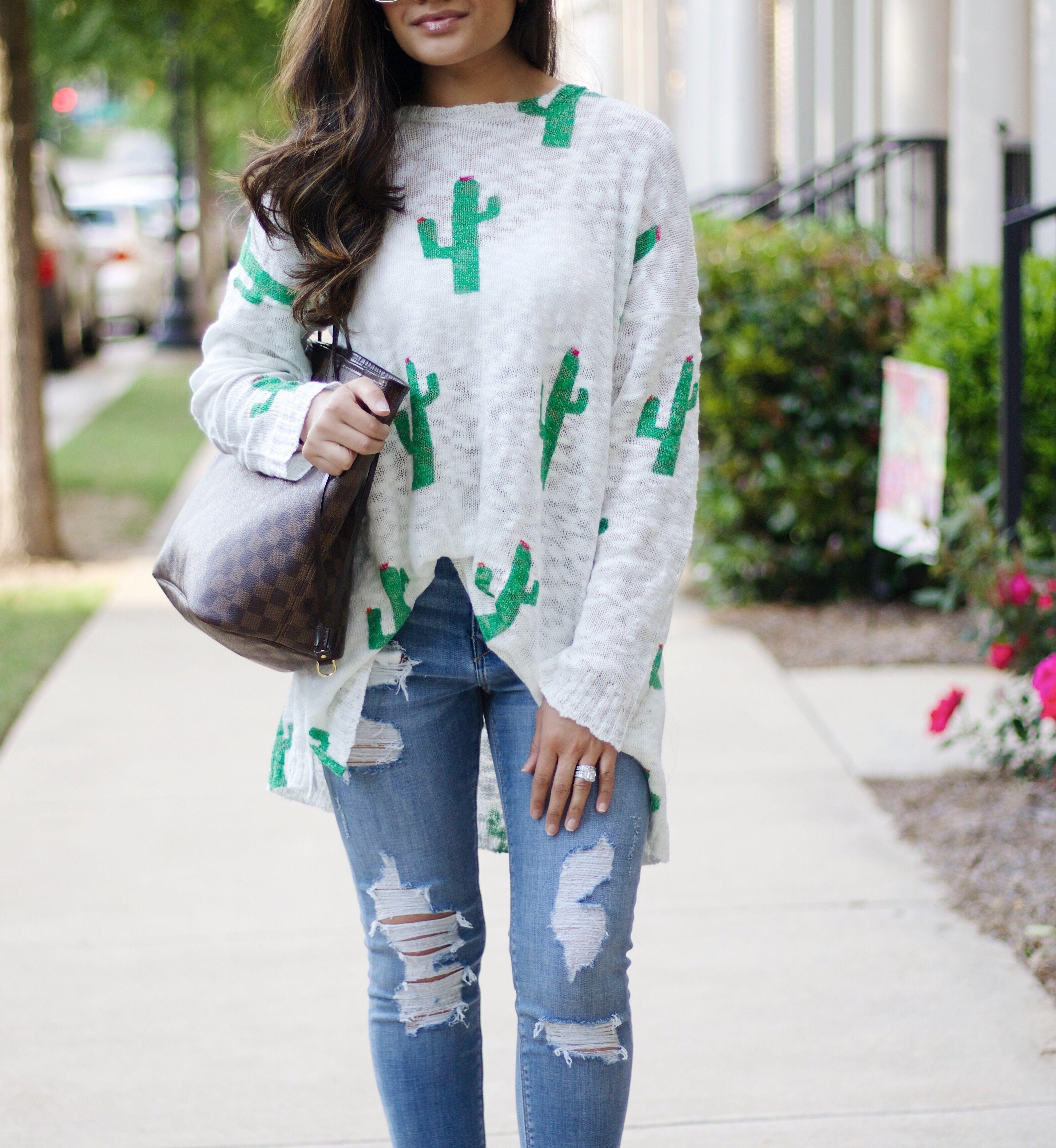 cactus sweater