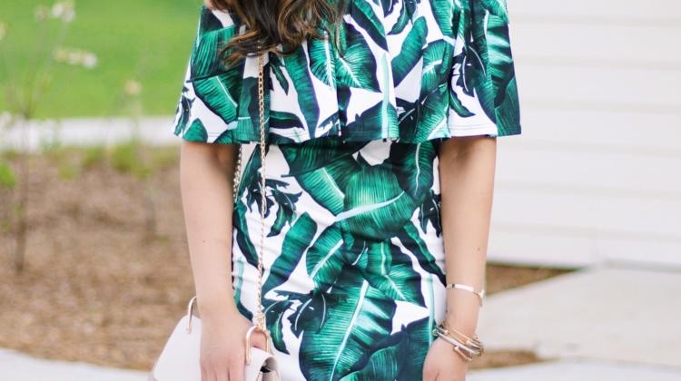Palm Print Dress under $20